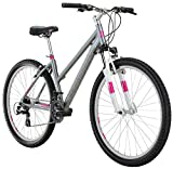 Cheap Diamondback Bicycles Laurito Womens Recreational Mountainbike, 15″ Frame, Silver, 15″/Small