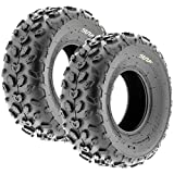 SunF A014 XC-Sport ATV & Go Kart 19x7-8 Knobby Tires, 6 PR, Tubeless (Pair of 2)
