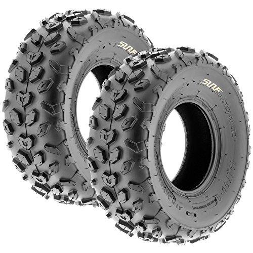 SunF A014 XC-Sport ATV & Go Kart 19x7-8 Knobby Tires, 6 PR, Tubeless (Pair of 2) (Go Kart Sport)
