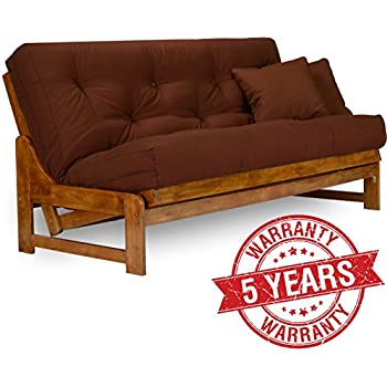 arden futon frame   queen size solid hardwood amazon    westfield futon frame   queen size solid hardwood      rh   amazon