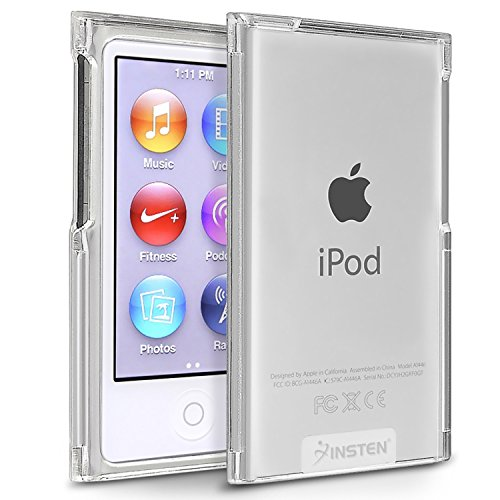 Insten Replacement Apple iPod 7 / 7th Generation Case, Clear Crystal Transparent Hard Snap-On Skin Case Cover for New Apple iPod Nano7th 8th Generation 7G 7 (Clear Plastic Ipod Case)