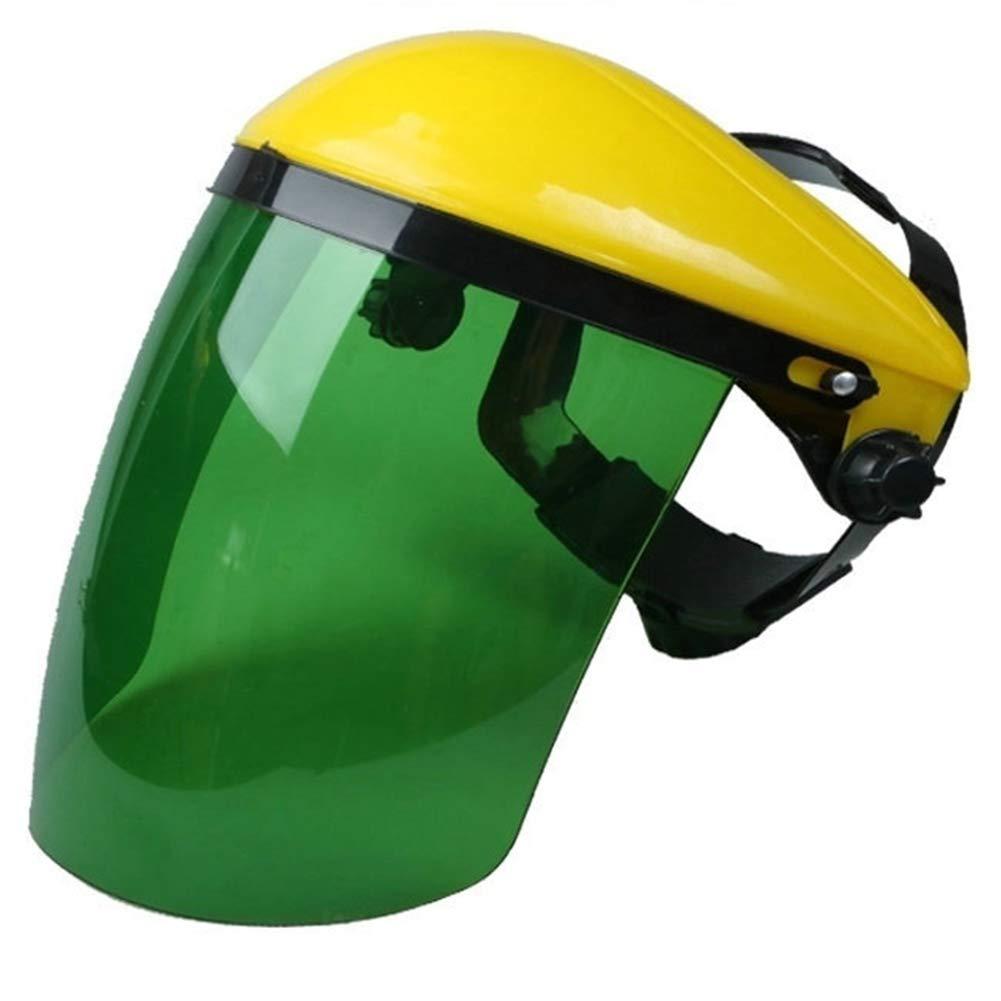 M/áscara de Seguridad Industrial para la Cara y Visera Ancha Tama/ño Libre Resistente al Calor Yellow+Green m/áscara de Soldadura de Seguridad para Hombres y Mujeres