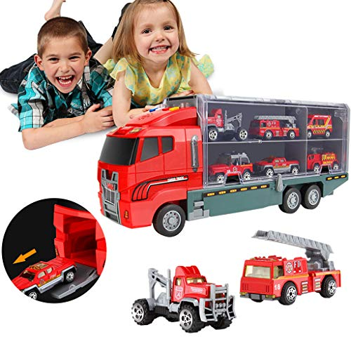 Jinjin Car Toy,Transport Car Diecast Car Alloy Construction Vehicle Engineering Truck Car Classic Toys Play For 2 3 Years Old Boys Toddlers Kids Gift ()