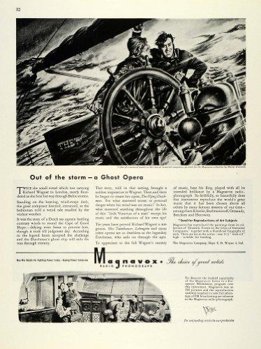 1944-ad-magnavox-radio-phonographs-world-war-ii-sea-ship-captain-walter-richards-original-print-ad