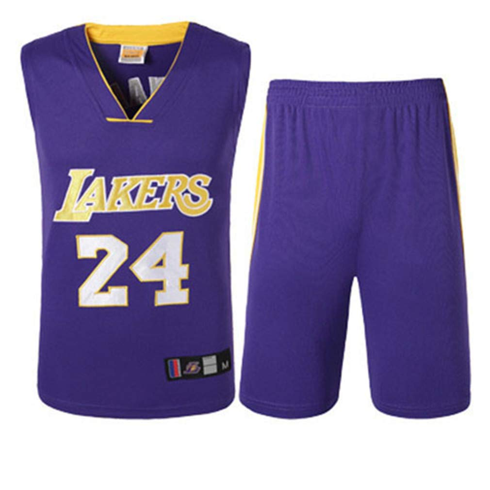 Basport Lakers No. 24 Kobe Bryant NBA Basketball-Anzug-Set für Herren B07K821FM5 T-Shirts Bequeme Berührung