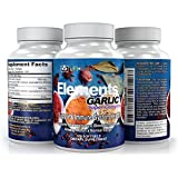 LFI Elements Garlic Super Complex - Allicin for Intense Immunity Support & Heart Health plus superfood benefits of Parsley & Chlorophyll. 500mg & Odorless