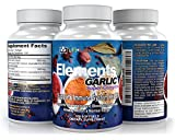 Elements Garlic Odorless Allicin Super Complex — for Intense Immunity Support & Heart Health plus superfood benefits of Parsley & Chlorophyll. 500mg; Lower Cholesterol and Blood Pressure Naturally.