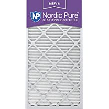 Nordic Pure 20x30x1M8-6 MERV 8 Pleated AC Furnace Air Filter , 20x30x1, Box of 6