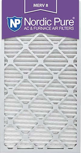 Nordic Pure 24x30x1M8-6 MERV 8 Pleated AC Furnace Air Filter , 24x30x1, Box of 6