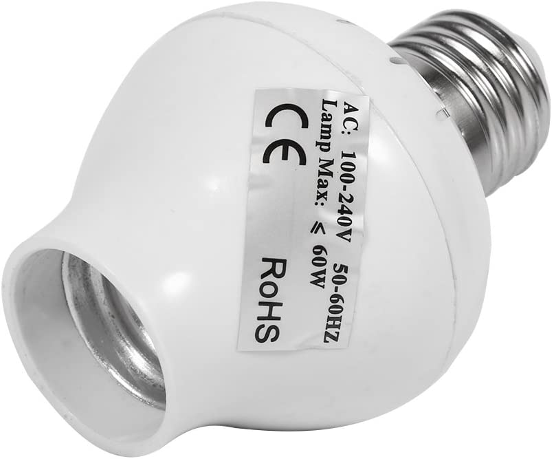 Mxtech Toma de luz, E27 Radar de microondas PIR Sensor de Movimiento Bombilla de luz LED Toma de Interruptor Soporte de lámpara AC 100-240V Mini lámpara led Toma de Sensor de luz
