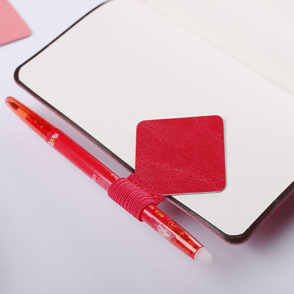 per quaderni agende e calendari 6 pezzi Portapenne autoadesivo in pelle con anello elastico