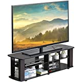Furevol Gurney 3-Tier TV Stand for TV up to 52 Inch, Mocha Espresso