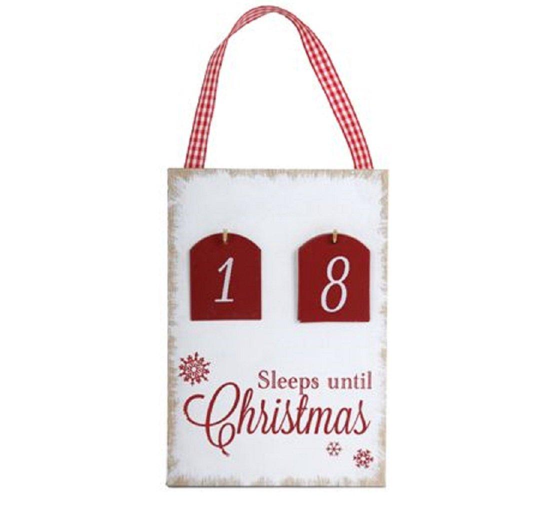 COUNTDOWN TO CHRISTMAS Plaque ..Sleeps 'Til Xmas