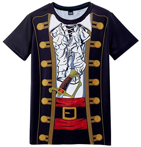 Funny World Men's Pirate Costume T-Shirts (3XL) Black]()
