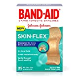 Band-Aid Brand Skin-Flex Adhesive Bandages, All One Size, 25 Count