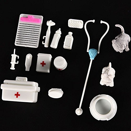 One Set Doll Accessories Toy medical kit Supplies Doll Pet Toys For barbie doll Baby Toys Christmas gift