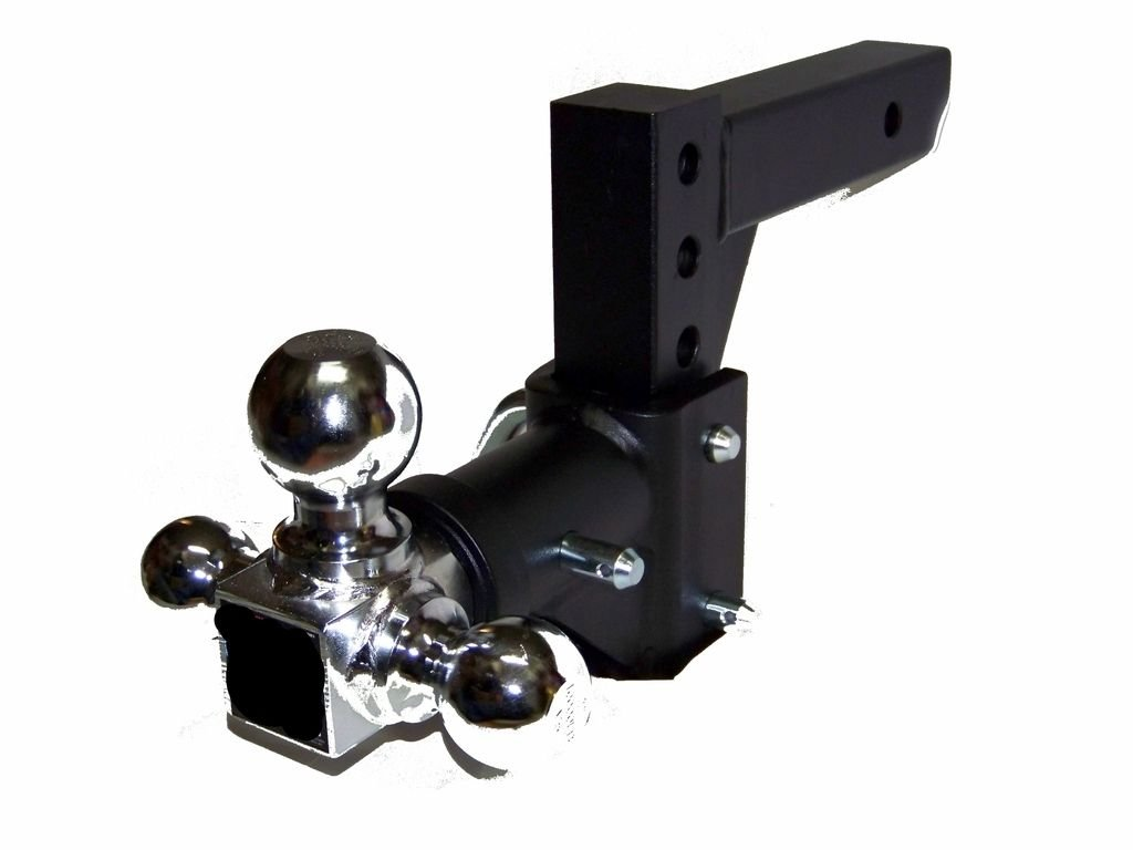 H D Tri-ball Swivel Adjustable Trailer Tow Hitch Mount Safety Pin 2'' Receiver