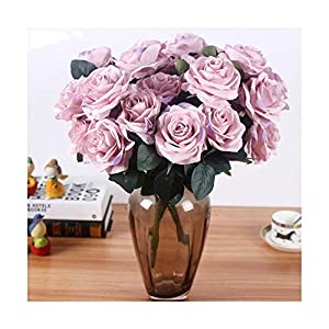 HANBINGPO Artificial Silk 1 Bunch French Rose Floral Bouquet Fake Flower Arrange Table Daisy Wedding Flowers Decor Party Accessory Flores 49