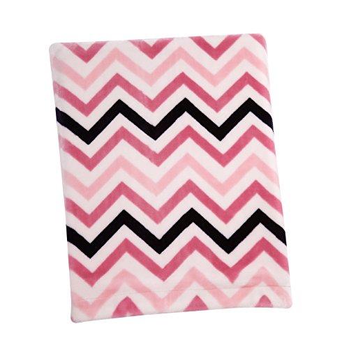 (Sadie & Scout Chelsea - Pink Chevron French Fiber Blanket)