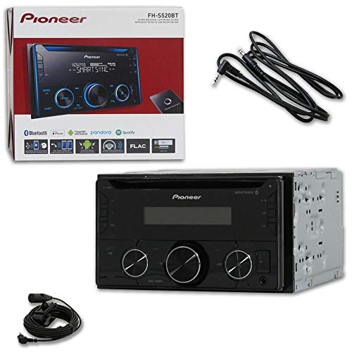 2017 Pioneer Double Din 2DIN Car Audio MP3 CD Player Built-in Bluetooth Stereo Works with Pandora & Spotify + 3.5mm AUX Audio Cable