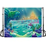 TMOTN 7x5ft Under The Sea Little Mermaid Photography Backdrop Ocean Nautical Birthday Party Banner photo studio booth background newborn baby shower photocall D1595
