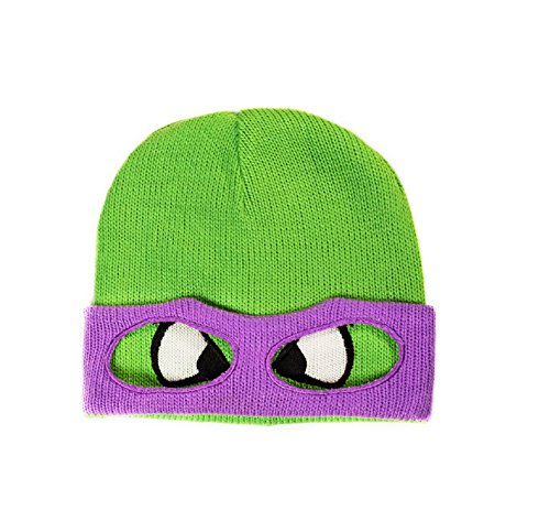 Teenage Mutant Ninja Turtles Donnie Face Official New Green Beanie Hat