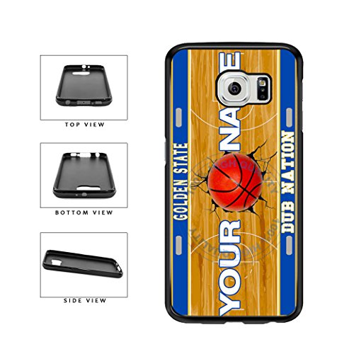 BleuReign(TM) Personalized Dub Nation Custom Name Basketball Team Golden State License Plate TPU RUBBER SILICONE Phone Case Back Cover For Samsung Galaxy S7