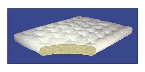 4 inch all cotton futon mattress  4 in    queen  60 w x amazon    4 inch all cotton futon mattress  4 in    queen  60 w      rh   amazon