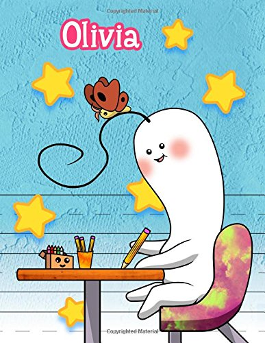 "Download Olivia: Personalized Book with Child's Name, Primary Writing Tablet, 65 Sheets of Practice Paper, 1"" Ruling, Preschool, Kindergarten, 1st Grade, 8 1/2"" x 11"" pdf epub"