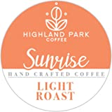 Highland Park Single Serve Coffee Pods Compatible with Keurig K Cup Brewers. Sunrise Blend 80 Count