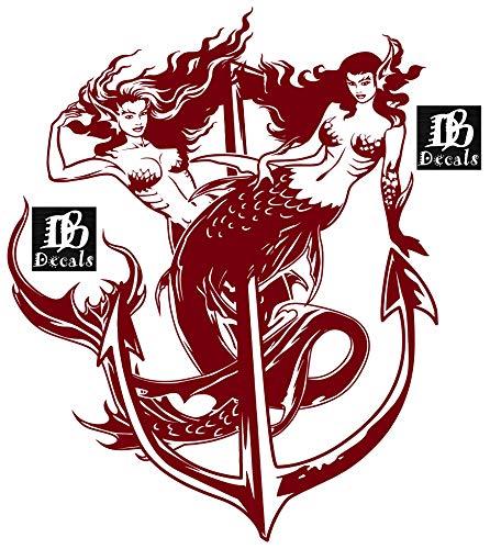 Mermaids Mermaid Girl Siren Fish Tail Boat Anchor Fantasy Greek Mythology Beach Fishing Car Truck Window Laptop Vinyl Decal Sticker