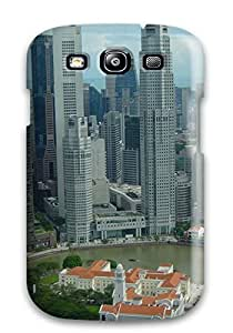 Galaxy S3 Hard Back With Bumper Silicone Gel Tpu Case Cover Singapore City by Maris's Diary