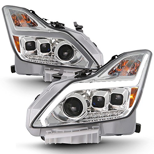 ACANII - For 2008-2015 G37/Q60 2Dr Coupe LED Sequential Signal DRL Projector Headlights Driver + Passenger Side -