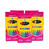 Bulk Case of 500 Packs (3,000 Crayons) of Wholesale 6 Pack Crayons in 6 Assorted Colors