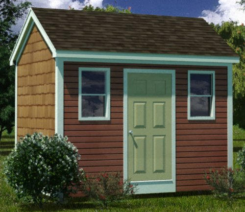 - 8x12 Shed Plans - How To Build Guide - Step By Step - Garden / Utility / Storage