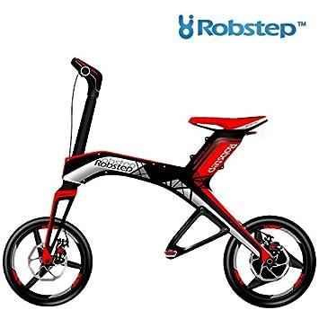 Robstep X1 BICICLETA ELÉCTRICA PLEGABLE Autonomía h/25kms Velocidad máx. 20km/h Motor