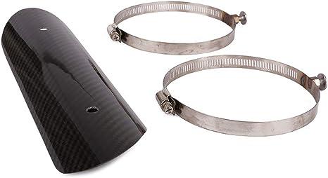 Fast Pro Motorrad Universal Hitzeschild Für Auspuffrohrschutz Schutz Kohlefaser Für Die Meisten Motorräder Auto