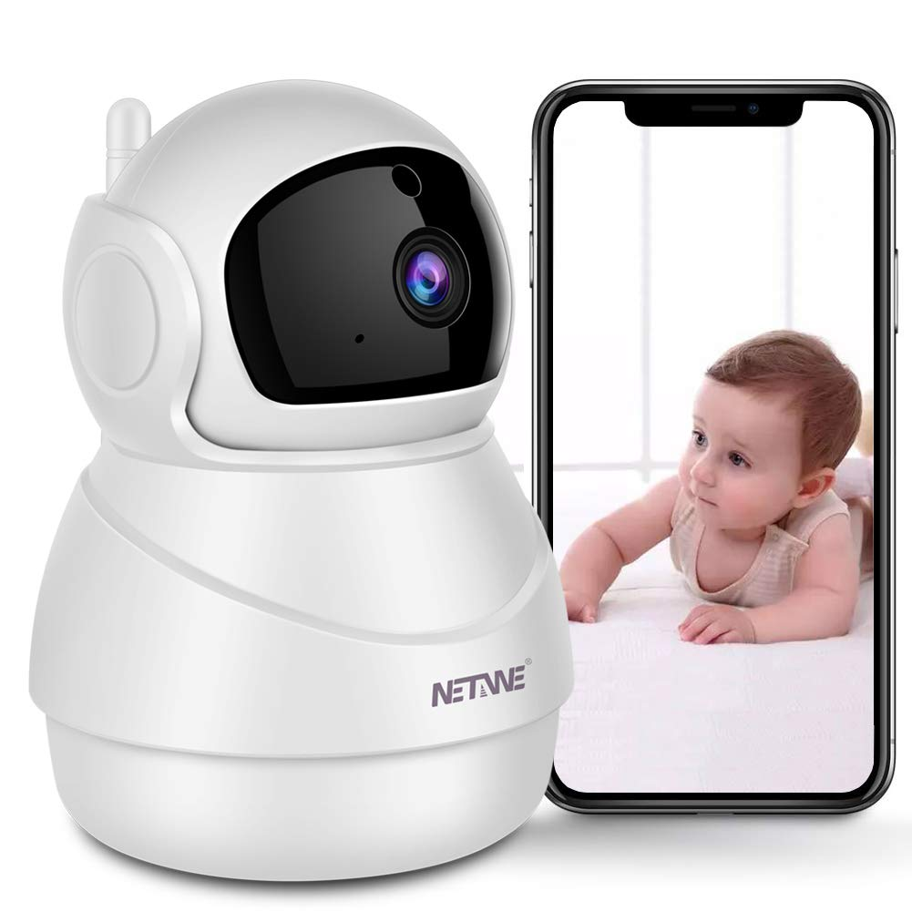 Security Camera WiFi IP Camera for Home Security Camera Pan Tilt Zoom Baby Monitor Pet Camera with Two-Way Audio, Night Vision, Motion Detection, Cloud Storage – iOS Andriod PC Available