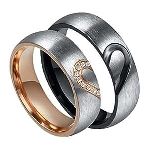 2 pareja anillos boda anillos de boda confíes anillos grabado PR014