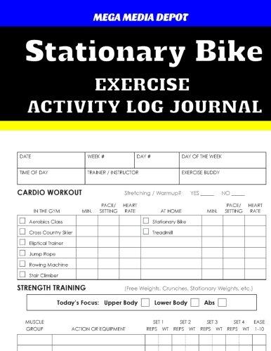 (Stationary Bike Exercise Activity Log Journal)