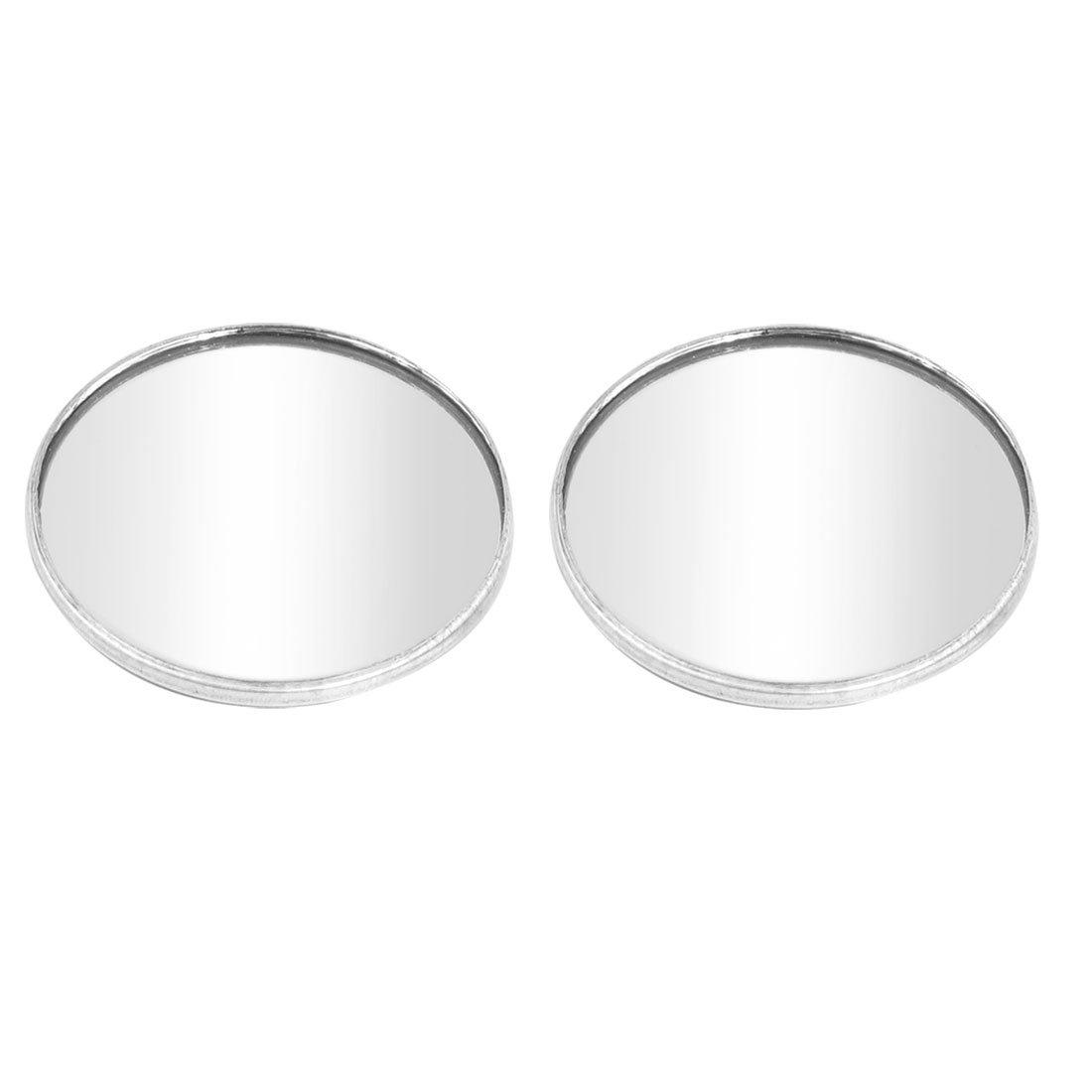 uxcell® 2pcs Driver Wide Angle Convex Car Mirror Blind Spot Silver Tone 48.5mm Diameter