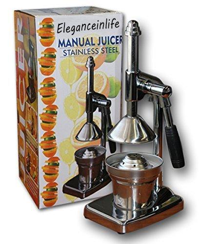 Manual prensa extractor de jugo de naranja Exprimidor de acero inoxidable exprimidor manual palanca de prensa resistente de acero inoxidable: Amazon.es: ...