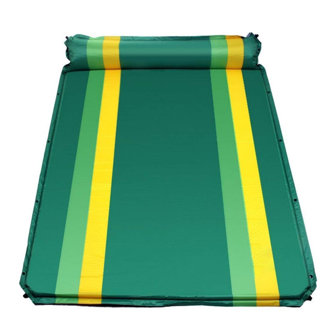Jakiload Aufblasbares automatisches Kissen aufgeweitetes Starkes Zelt im Freien feuchtigkeitsfeste Schlafmatte (Farbe : Grün)
