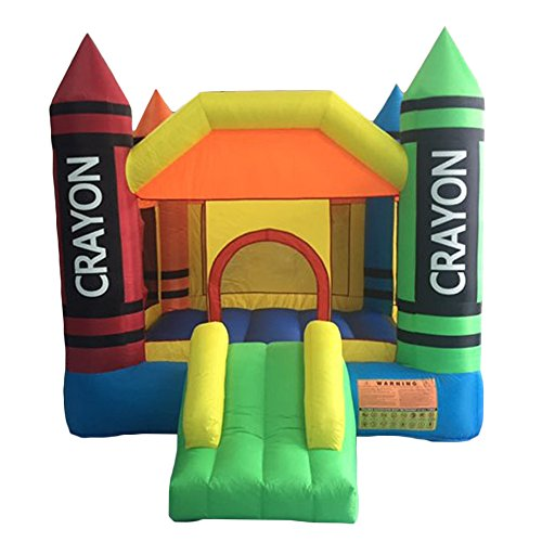 - FCH Inflatable Bounce House Castle Jumper Kids Play Castle Multicolor Commercial Kids Jumper Moonwalk Without Blower