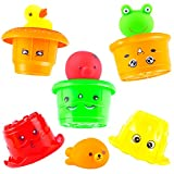 7 month old tub - aGreatLife Hamburger Stacking Cups: Waterproof Bath Toys and Nesting Cups For Babies and Toddlers