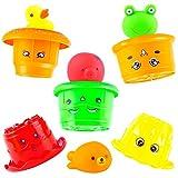 aGreatLife Children Bath Stacking Cups - Hamburger