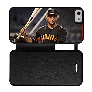 Generic For 5 5S Iphone Apple Printed Hunter Pence Girl Leather Cover Quality