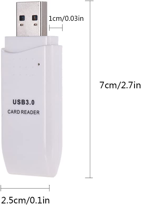 Docooler Card Reader USB 3.0 SDXC TF 2 in 1 for Tablets PC Laptop Computer