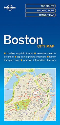 Lonely Planet Boston City Map (Ma Street Map)