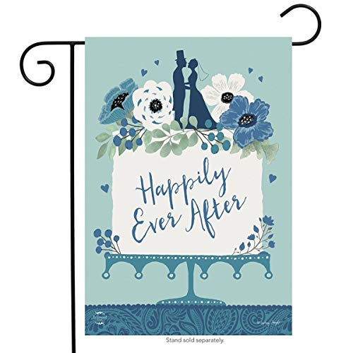 Happily Ever After Wedding Garden Flag Marriage Bride & Groom 12.5